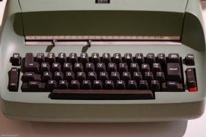 Old manual typewriter