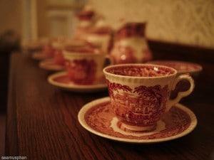 Old tea cups