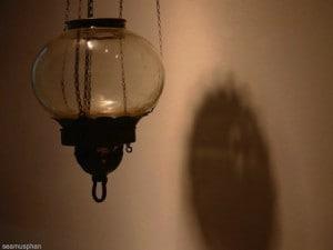 Unlit oil lamp