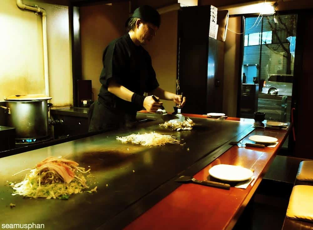 Japanese teppanyaki chef