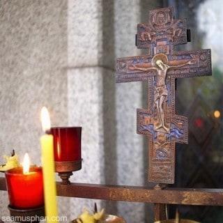 Eastern Orthodox Cross in Church
