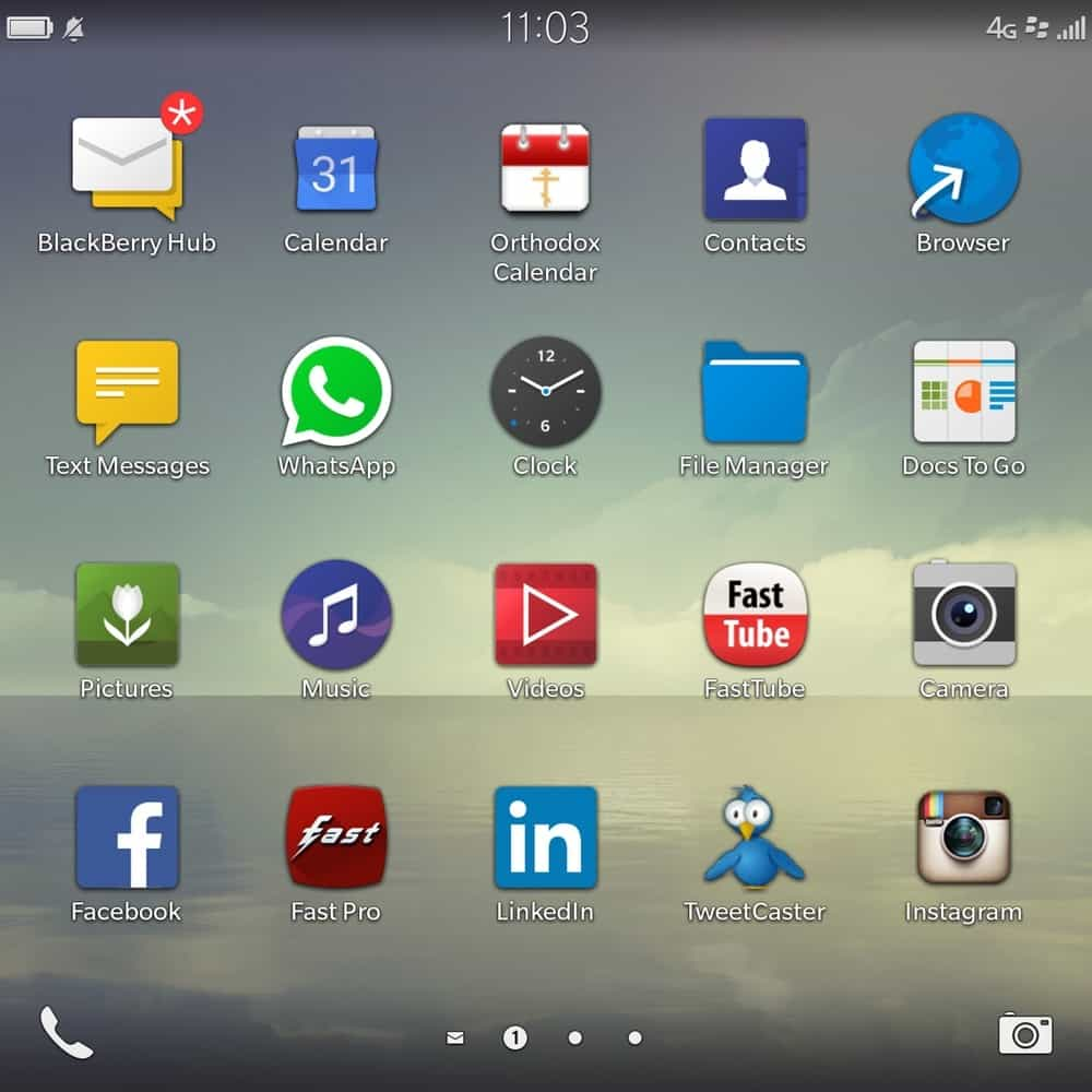 BlackBerry native apps and Android apps in co-existence