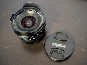 Classic camera lens and old school photography