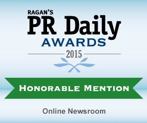 RAGAN's PR Daily Awards 2015 - Honorable Mention, Online Newsroom category