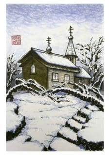 Chapel in deep winter