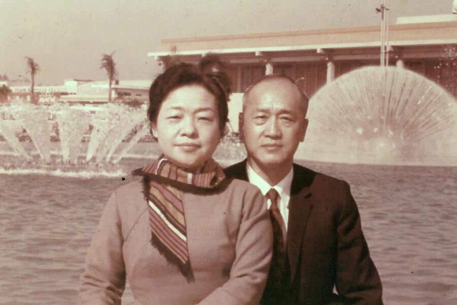 My grandparents - Grandpa 丁幼泉, army general, book author, professor, and grandma 王長慧, prominent parliamentarian, Taiwan