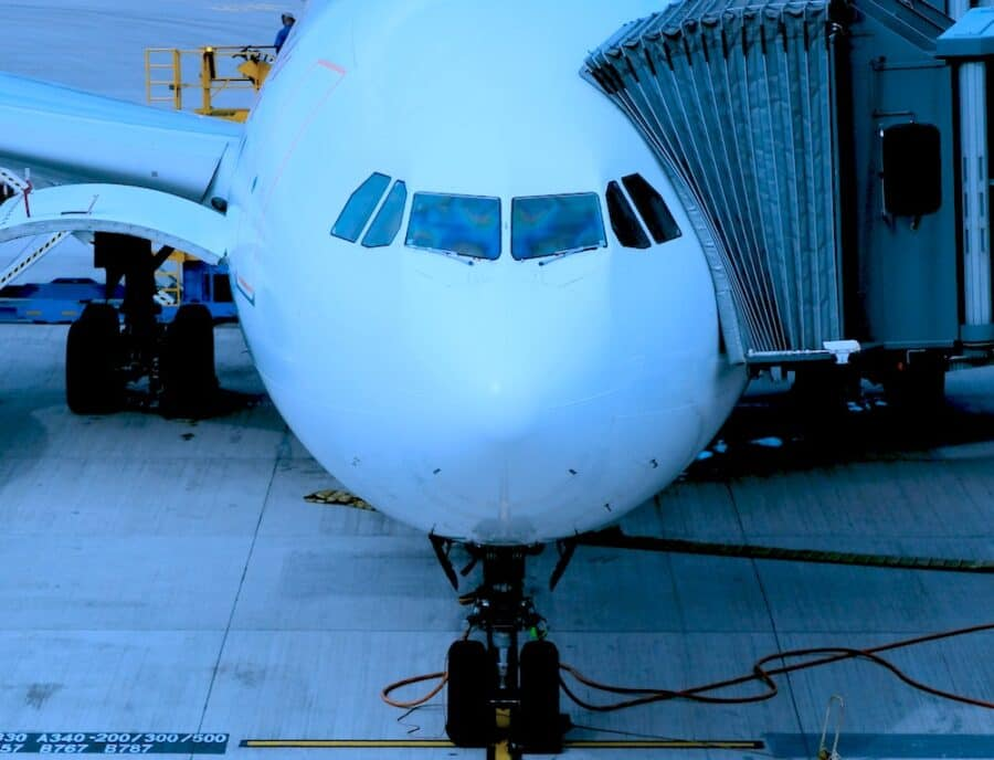 boarding aircraft